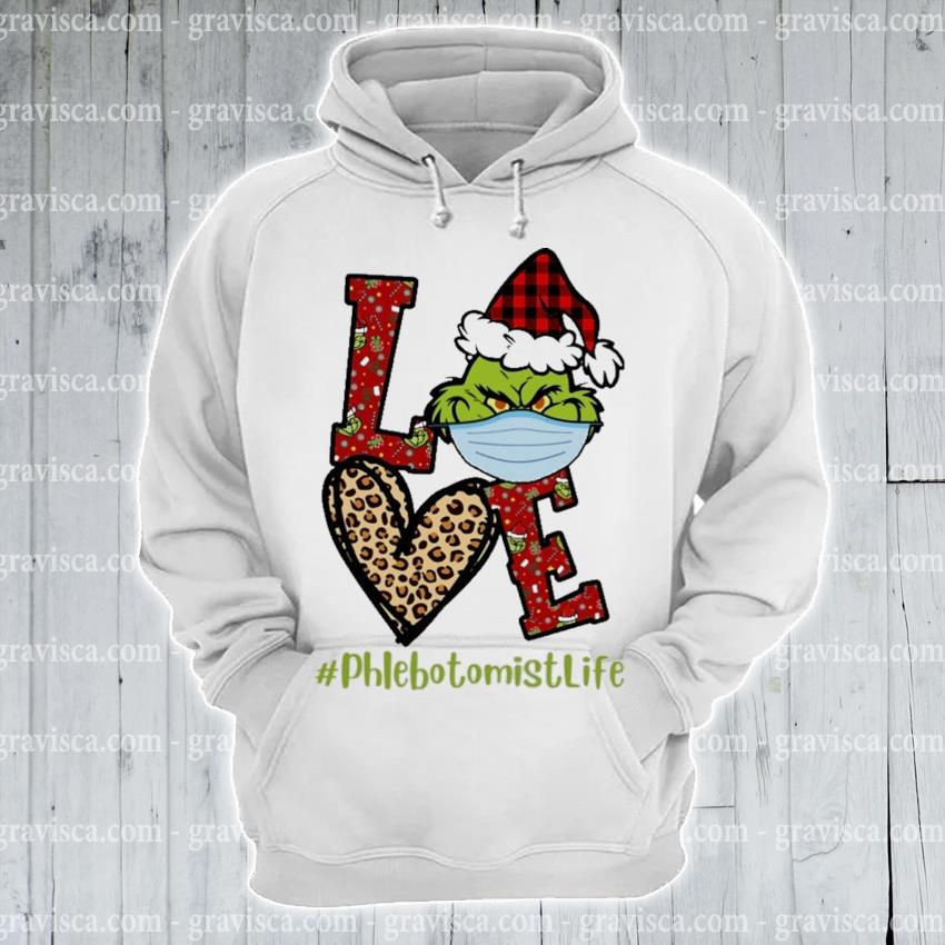 Plaid Grinch Santa love # phlebotomist life Christmas s hoodie