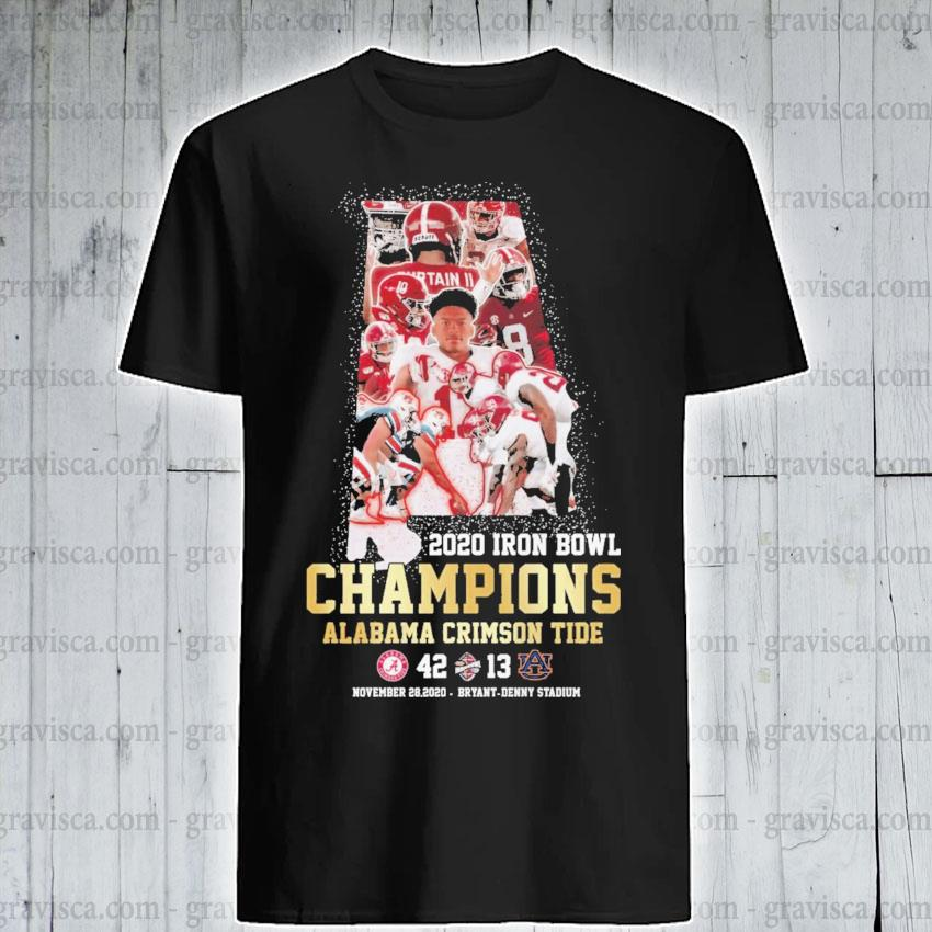 2020 Iron Bowl Champions Alabama Crimson tide shirt
