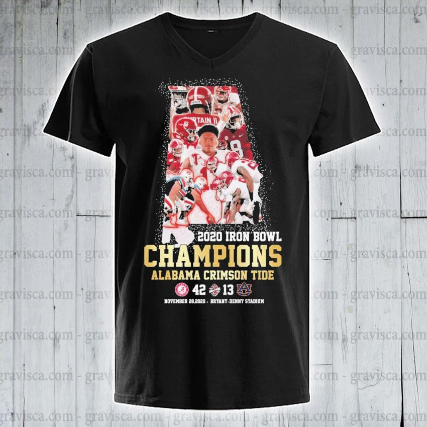 2020 Iron Bowl Champions Alabama Crimson tide s v-neck-tee