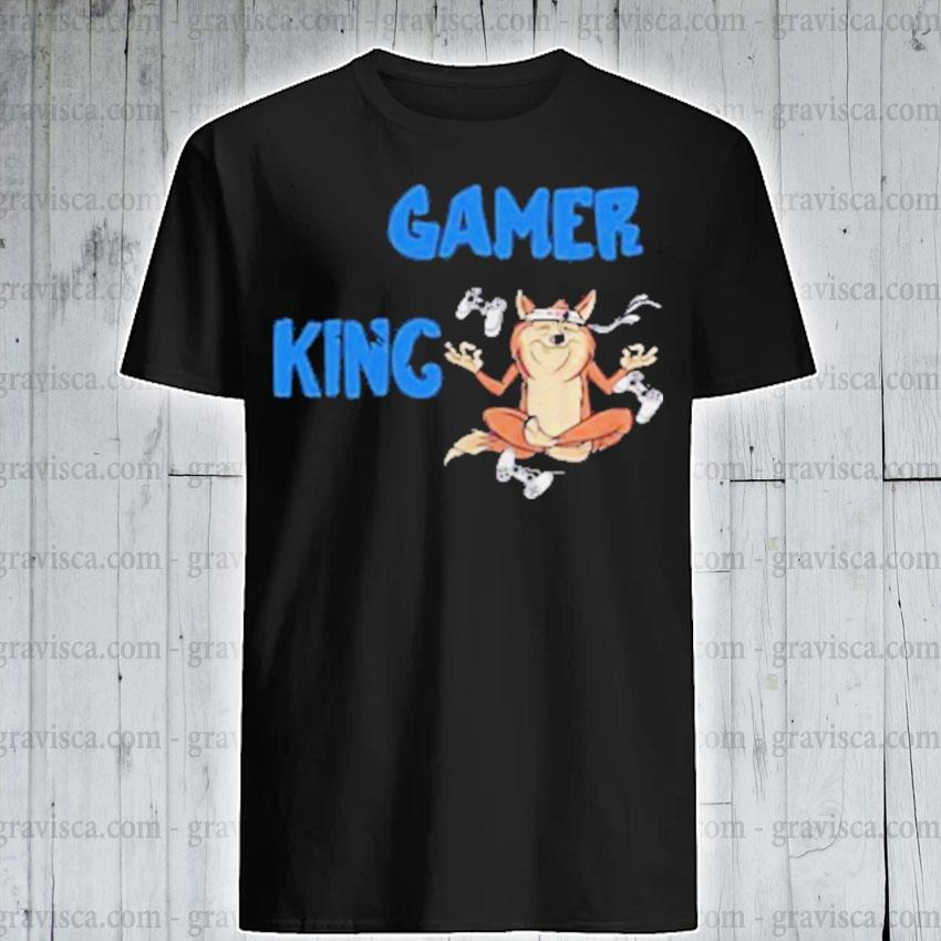 Gamer king console gaming pc computer video games shirt