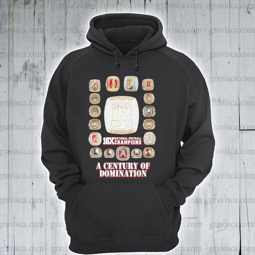 18x national Football champions a century of domination s hoodie