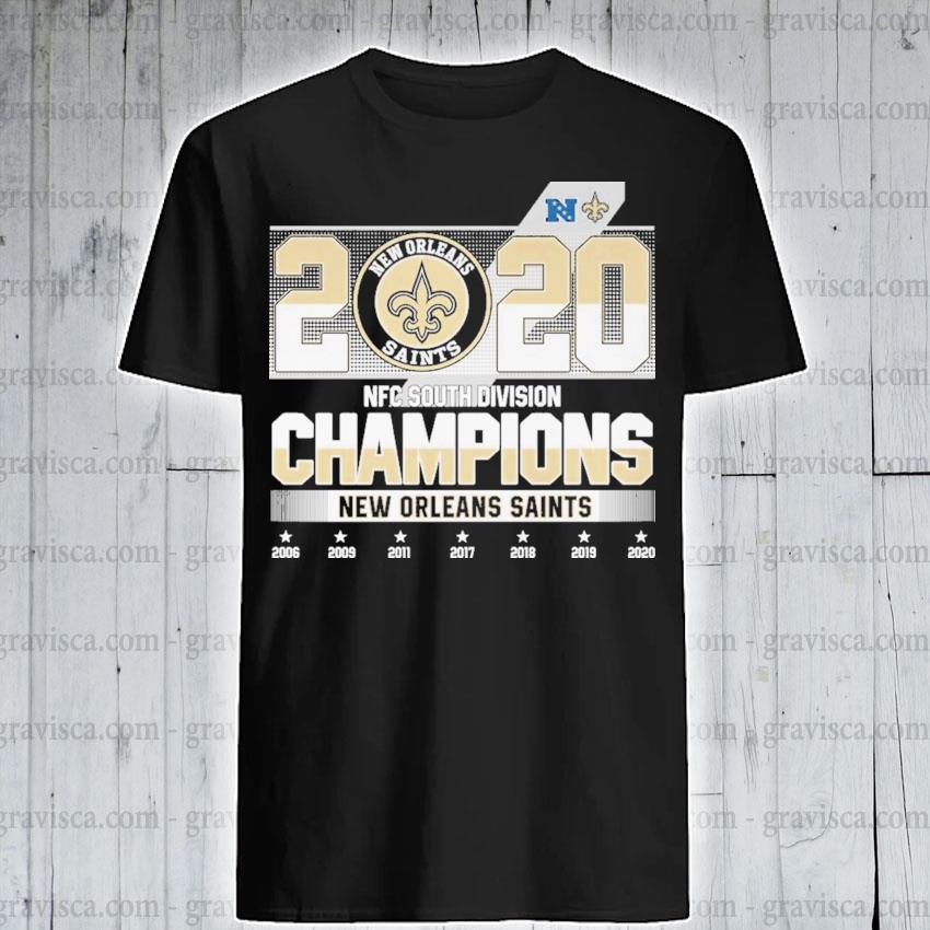 2020 AFC south division Champions New Orleans Saints shirt
