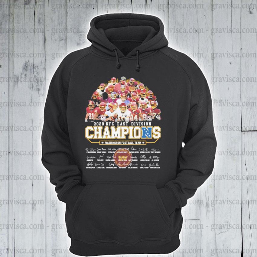 2020 NFC east division Champions Washington Football team signatures s hoodie
