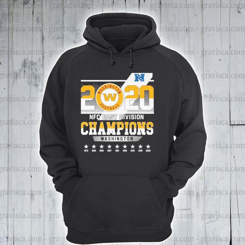 2020 Washington Football NFC east division Champions s hoodie