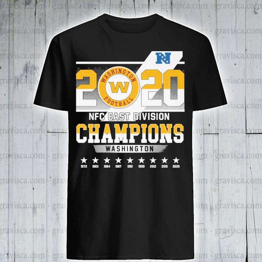 2020 Washington Football NFC east division Champions shirt