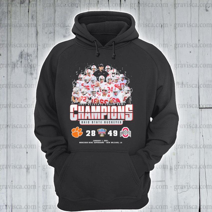 2021 Allstate Sugar bowl Champions Ohio State Buckeyes 28 49 s hoodie