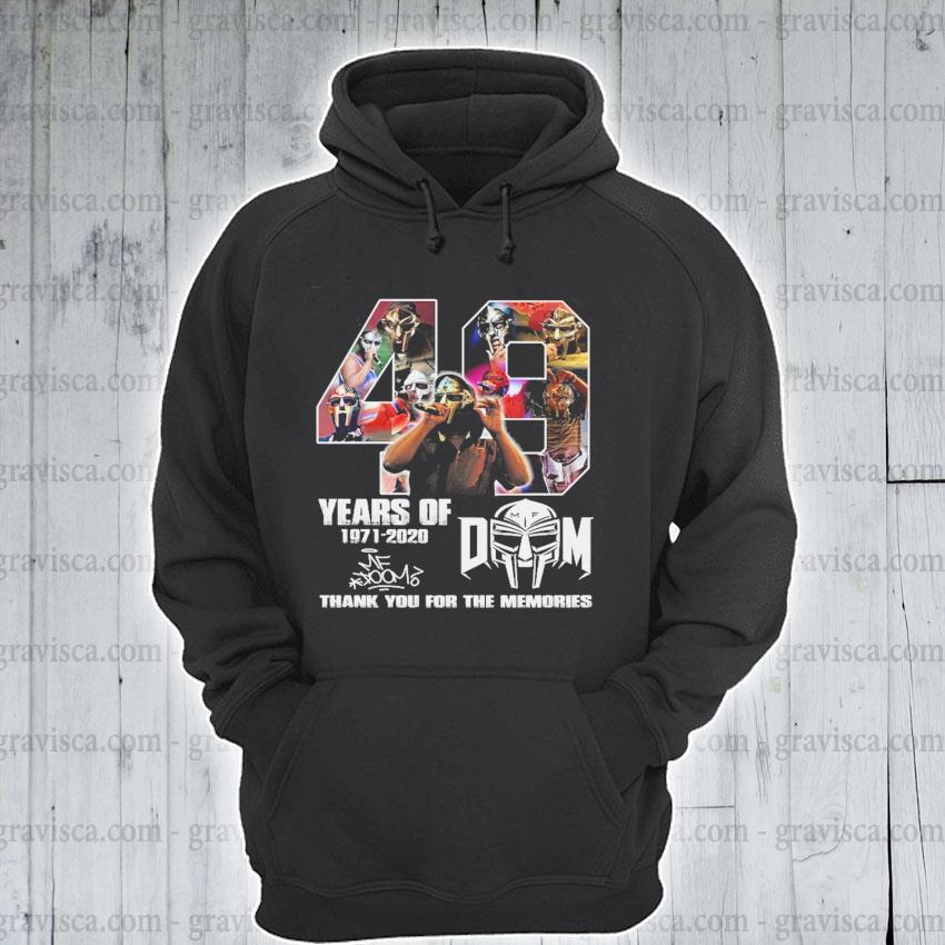 40 years of Dom 1971 2020 signature thank you for the memories s hoodie