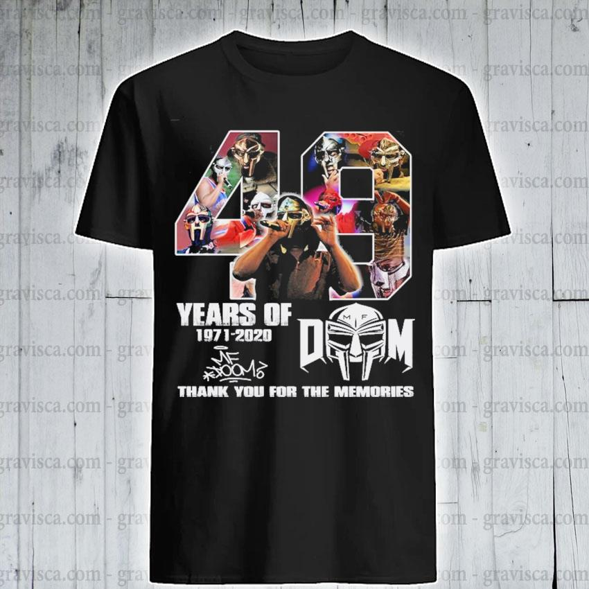 40 years of Dom 1971 2020 signature thank you for the memories shirt