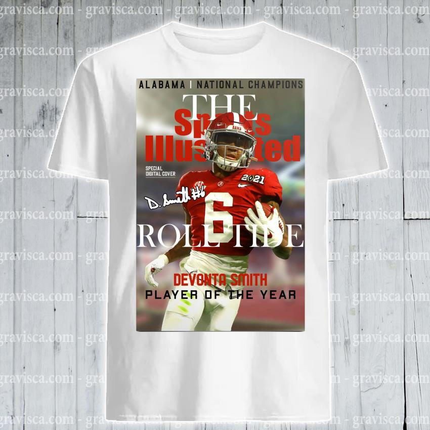 Alabama national Champions the roll tide devonta smith player of the year shirt