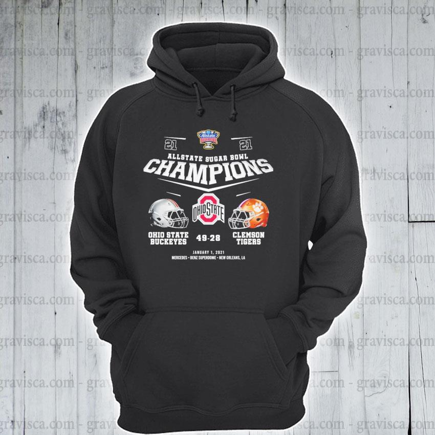 Allstate Sugar bowl Champions Ohio State Buckeyes and Clemson Tigers January 1 2021 s hoodie