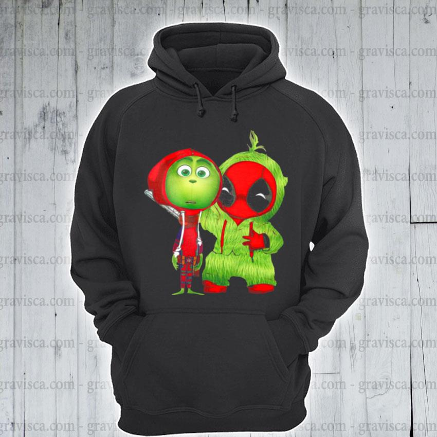 Baby grinch and baby deadpool s hoodie