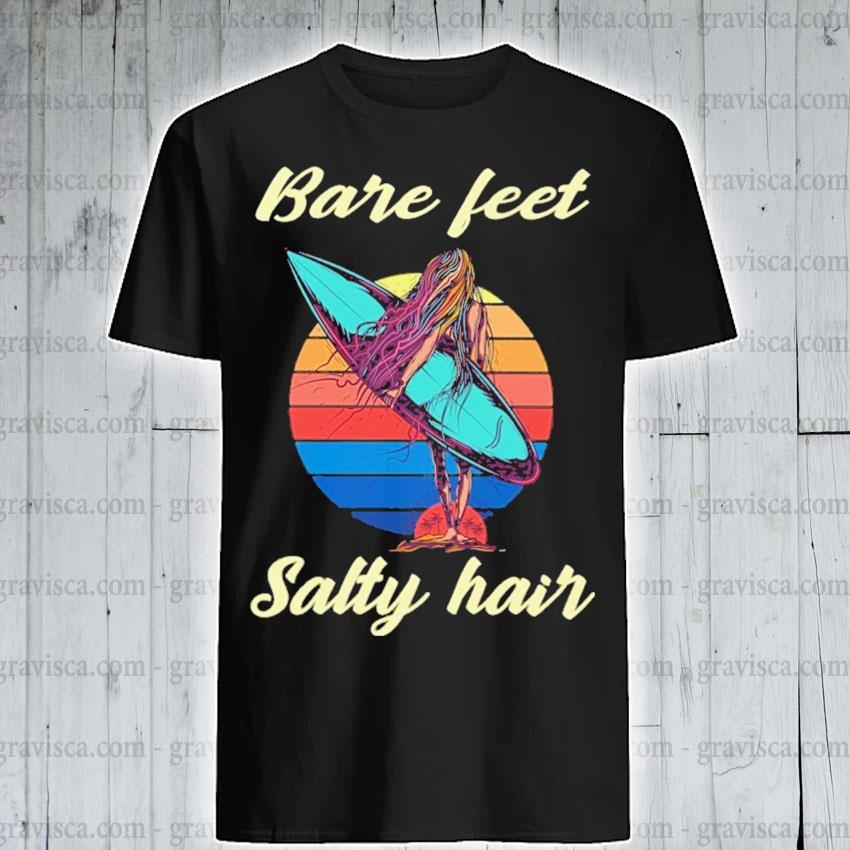 Bare feet salty hair vintage shirt