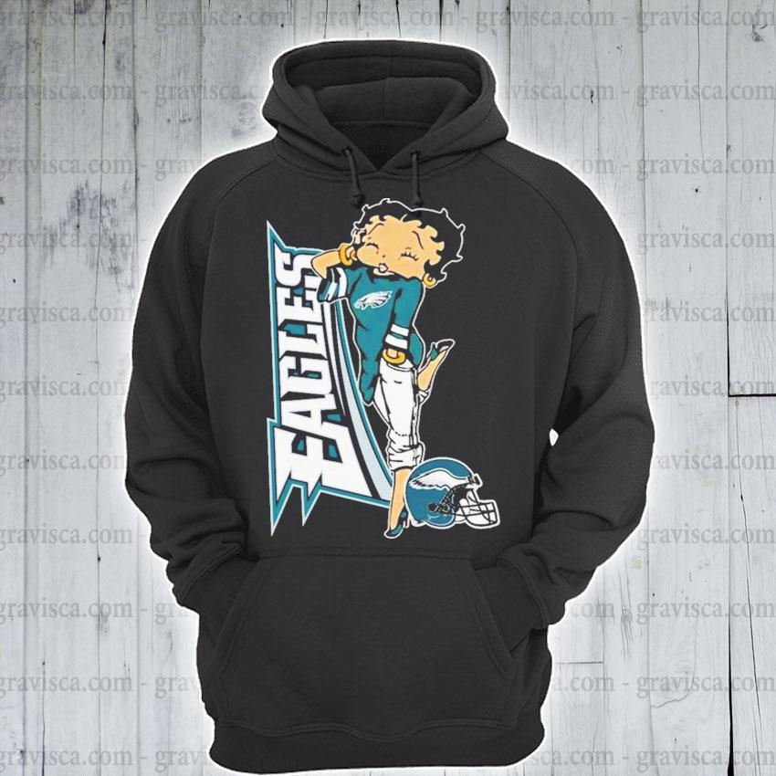 Betty boop philadelphia eagles football s hoodie
