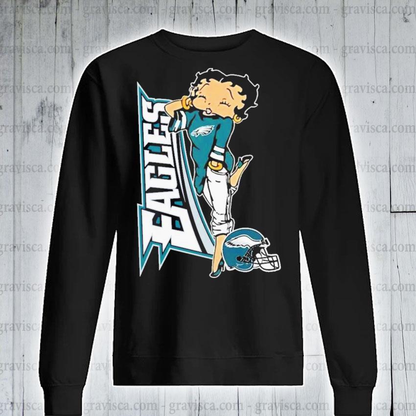 Betty boop philadelphia eagles football s sweatshirt