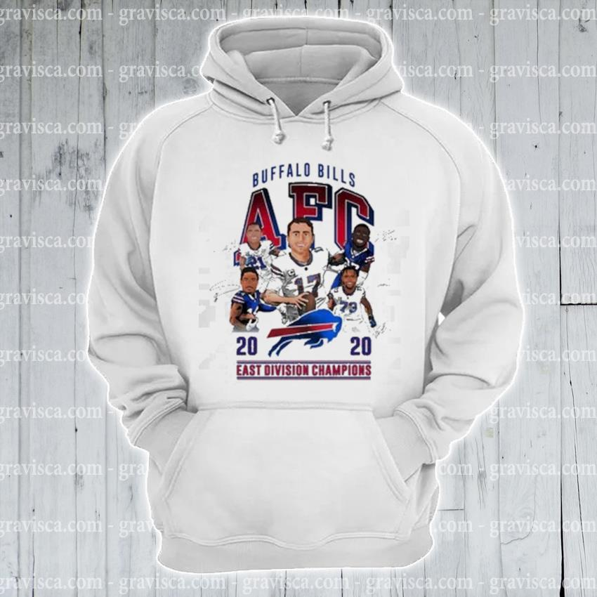 Buffalo Bills AFC 2020 east division Champions signatures s hoodie