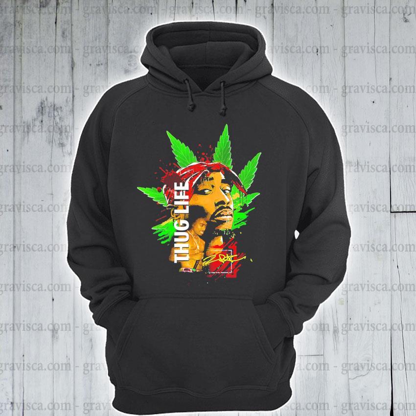 Cannabis Thug life signature s hoodie