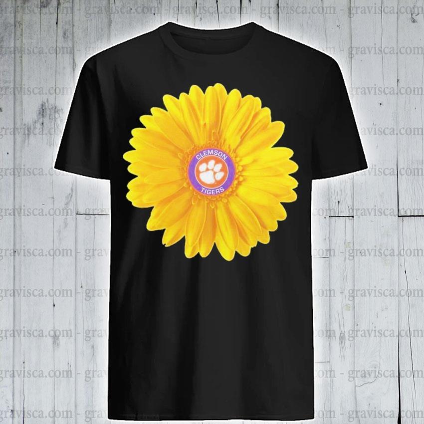 Clemson tigers football sunflower shirt