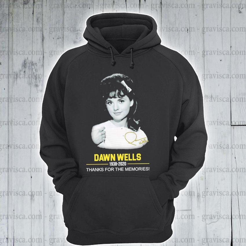 Dawn Wells 1938 2020 signature thanks for the memories s hoodie