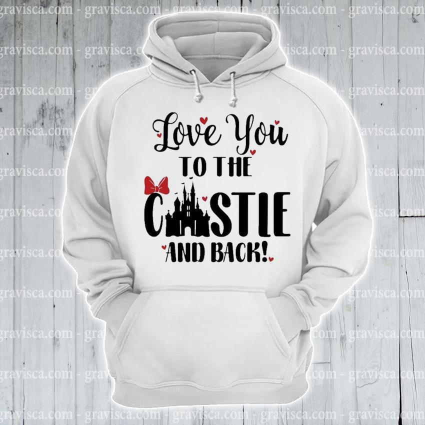 Disney love you to the castle and back valentines day s hoodie