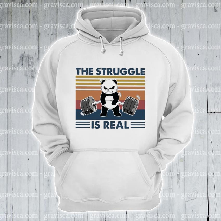 Panda the Struggle Is real vintage s hoodie