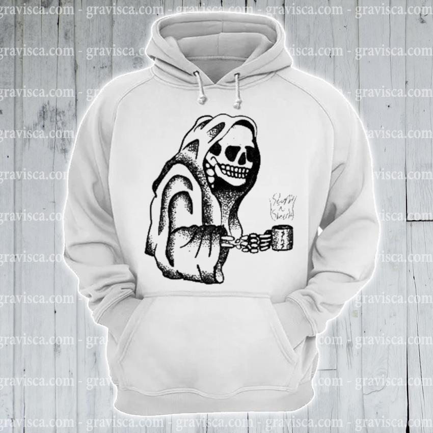 Skeleton drinking coffee halloween s hoodie
