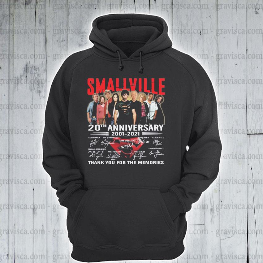 Smallville 20th anniversary 2001 2021 signatures thank you for the memories s hoodie