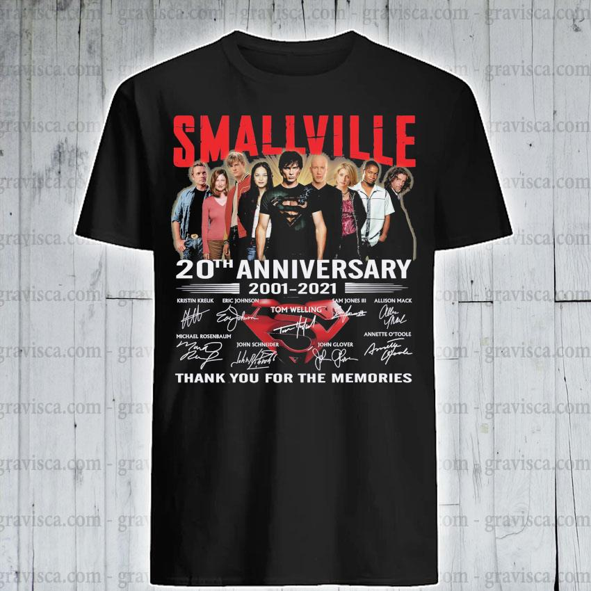 Smallville 20th anniversary 2001 2021 signatures thank you for the memories shirt