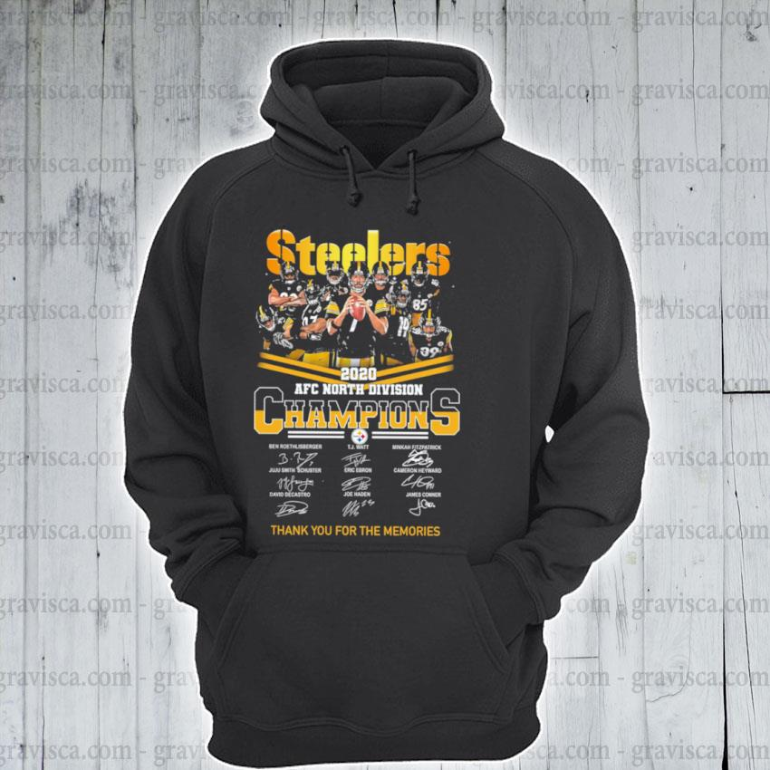 Steelers AFC north Division champions thank you for the memories signature s hoodie