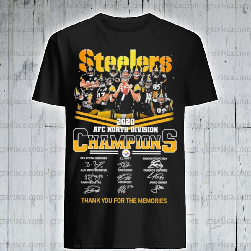 Steelers AFC north Division champions thank you for the memories signature shirt