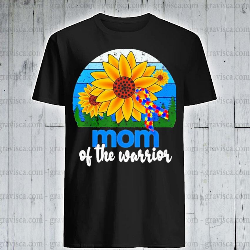 Sunflower and Breast Cancer Autism mom of the warrior vintage shirt