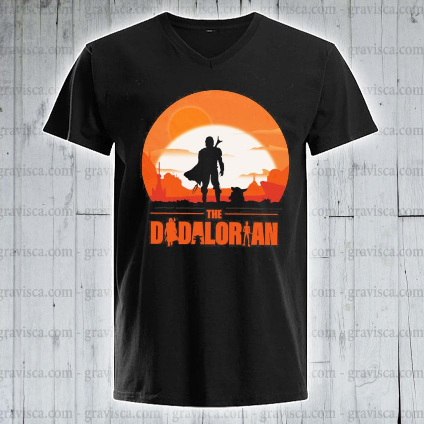 The Dadalorian and Yoda Sunset 2021 s v-neck-tee