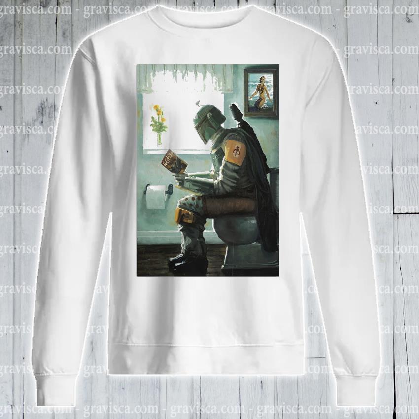 The Mandalorian toilet and read book Harry Potter 2021 s sweatshirt