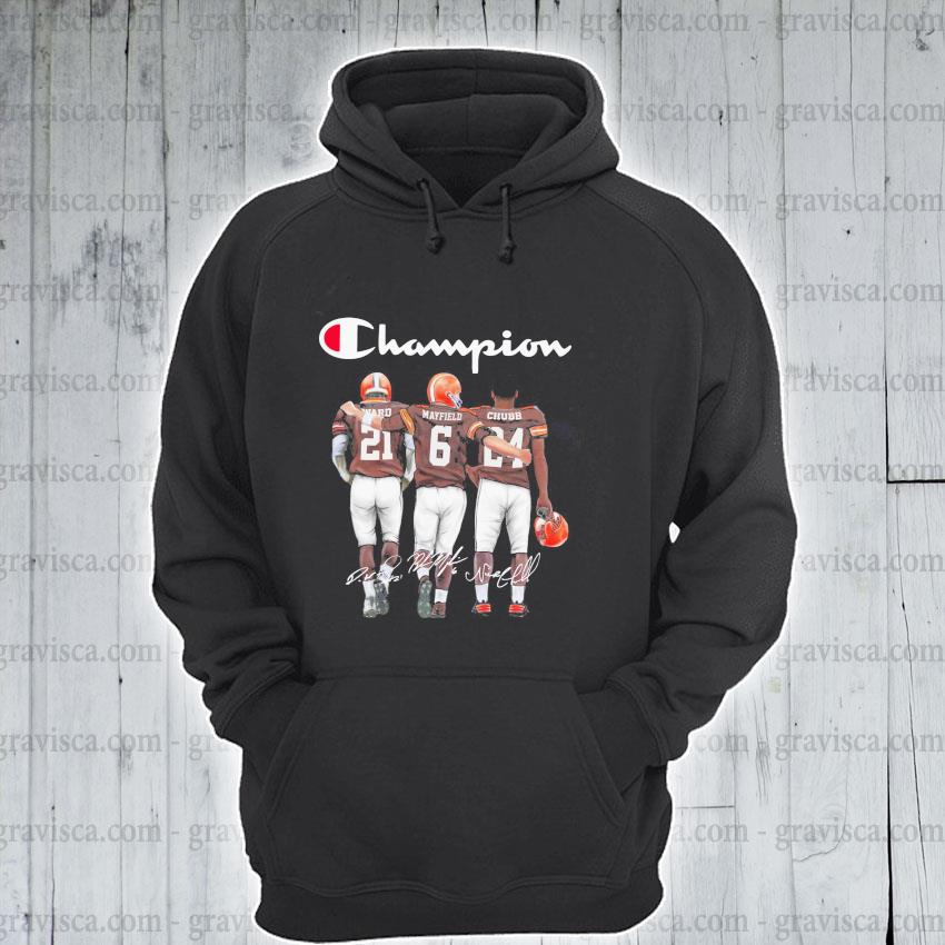 Ward and Mayfield and Chubb Champions signatures 2021 s hoodie